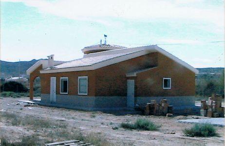 Construcción de chalet exterior e interior