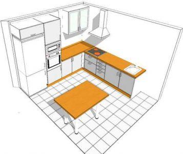 Diseño cocina con isla