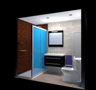 3D baño completo