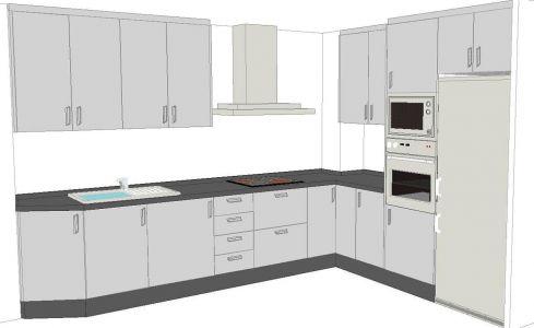 Diseño cocina completa
