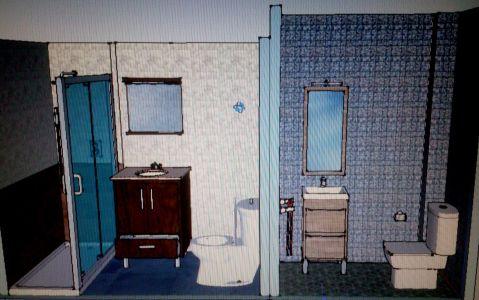 Diseño 3D baño y aseo