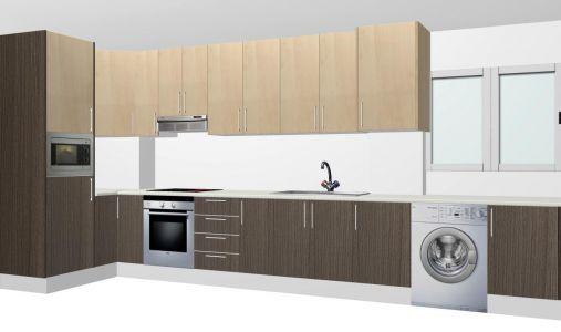 Diseño de cocina bicolor