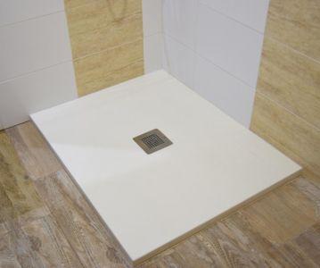 Plato de ducha imitación pizarra blanca