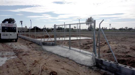 Construcción de valla para terreno