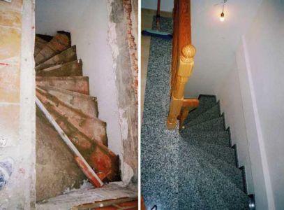 Construcción de escalera de caracol