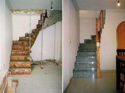 Escalera con terminación en granito nacional